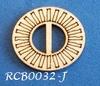 Bewerkte lint gespje  type J ca. 2cm 1,5mm dik van chipboard