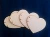 Scrapbook hart 11 x 9,5 cm 3mm dik (4 bladen) houtboard   per set
