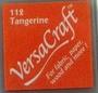 Tangerine stempelkussen   per stuk