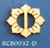 Bewerkte lint gespje  type D ca. 2cm 1,5mm dik van chipboard   per stuk