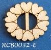 Bewerkte lint gespje  type E ca. 2cm 1,5mm dik van chipboard   per stuk