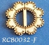 Bewerkte lint gespje  type F ca. 2cm 1,5mm dik van chipboard   per stuk