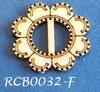Bewerkte lint gespje  type F ca. 2cm 1,5mm dik van chipboard
