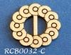 Bewerkte lint gespje  type C ca. 2cm 1,5mm dik van chipboard   per stuk