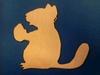 Eekhoorntjes 2 x 2,5cm (3mm dik)