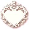 Ornate Heart   per stuk