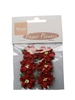 Paper Flowers Red   per set