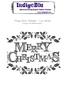 Design Merry Christmas   per stuk