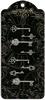 Shabby Chic Ornate Metal Keys   per set