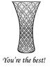 Cut Glass Vase   per set