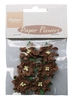 Paper Flowers Dark Brown   per set