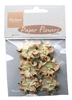 Paper Flowers White/Orange   per set