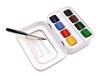 Sennelier L`aquarelle set 8 half- pans + 1 paintbrush
