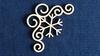 Hoeken Kerst ijsster 2,3 cm,1,5 mm dik   setje van 4