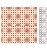 Embossing folders + Die Cross stitching   per stuk