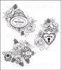 Floral Keys & Locket