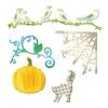 Pumpkin, Cat, Crows & Weg