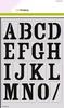 Mask stencil Alfabet Vintage 2 x A4   per set