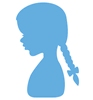 Silhouette girl with braids
