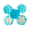 Double-flowers Turquoise   per set