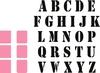 Stempel Alfabet en stansjes