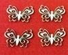 Vlinder met opengewerkte vleugels klein    per set