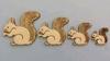 Familie eekhoorn 6-5-4-3 cm 4 stuks 1,5 mm dik chipboard