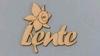 Lente met Narcis  6 x 6 cm