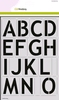 Mask stencil Alfabet Basic 2 x A4