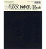 Flockpapier  Zwart   per pak