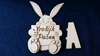 Paashaas 3D met Vrolijk Pasen bord