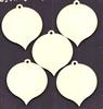 Kerstballen  5 x 4,3 cm   3mm dik