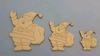 Kerstmannen 10, 7,5 en 5 cm 3 stuks 1,5 mm dik chipboard