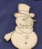 Sneeuwpop  +/-  4 x 5 cm   setje van 2