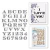 Etched Alphabet   per stuk