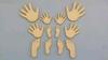 Setje handjes en voetjes 3-4-5 cm 1,5 mm dik chipboard 12 st   per setje
