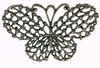 Antique Copper Butterfly   per stuk