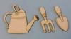 Gieter, hark en schepje klein   per set