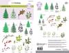 Step clearstamps A5 - kerstbomen, takken Christmas Nature    per set