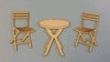 Tuinset Bistro tafel + 2 stoelen 6,5 cm   per set