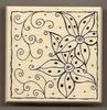 Kader met bloemen en doodles   per stuk
