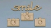 Smile by Patricia 3 x camera van 2,5 cm en 1 x smile van 6 c   per set