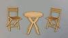 Tuinset Bistro tafel + 2 stoelen 4 cm   per set