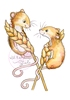 Harvest Mice   per stuk
