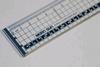 Snijlineaal transparant 40 cm met metalen rand   per stuk
