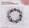 Christmas Wreath Silhouette   per stuk