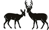 Tiny's Deer    per set