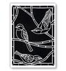 Birds on a Branch A5   per stuk