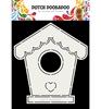 Card art Birdhouse   per stuk