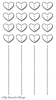Stidched Heart Grid   per set